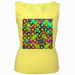 Pattern Factory 32b Women s Yellow Tank Top by MoreColorsinLife