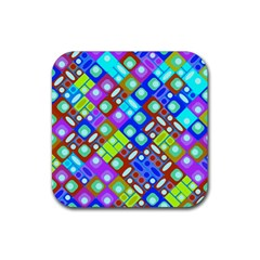 Pattern Factory 32b Rubber Square Coaster (4 Pack)  by MoreColorsinLife
