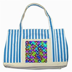 Pattern Factory 32b Striped Blue Tote Bag by MoreColorsinLife