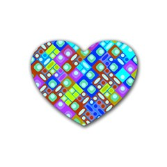 Pattern Factory 32b Heart Coaster (4 Pack)  by MoreColorsinLife