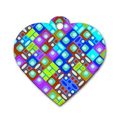 Pattern Factory 32b Dog Tag Heart (two Sides) by MoreColorsinLife