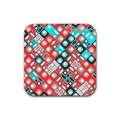 Pattern Factory 32d Rubber Coaster (square)  by MoreColorsinLife