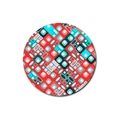 Pattern Factory 32d Rubber Round Coaster (4 Pack)  by MoreColorsinLife