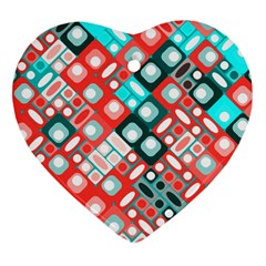 Pattern Factory 32d Heart Ornament (two Sides) by MoreColorsinLife