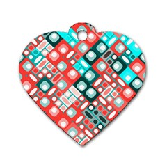 Pattern Factory 32d Dog Tag Heart (one Side) by MoreColorsinLife