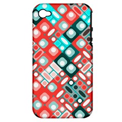 Pattern Factory 32d Apple Iphone 4/4s Hardshell Case (pc+silicone) by MoreColorsinLife
