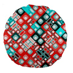 Pattern Factory 32d Large 18  Premium Round Cushions by MoreColorsinLife