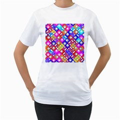 Pattern Factory 32a Women s T Shirt (white) (two Sided) by MoreColorsinLife