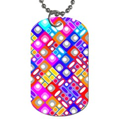 Pattern Factory 32a Dog Tag (two Sides) by MoreColorsinLife