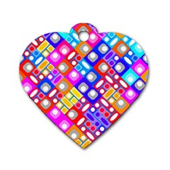 Pattern Factory 32a Dog Tag Heart (one Side) by MoreColorsinLife