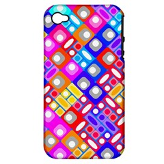 Pattern Factory 32a Apple Iphone 4/4s Hardshell Case (pc+silicone) by MoreColorsinLife