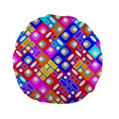 Pattern Factory 32a Standard 15  Premium Round Cushions by MoreColorsinLife