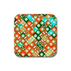 Pattern Factory 32c Rubber Square Coaster (4 Pack)  by MoreColorsinLife