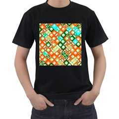 Pattern Factory 32c Men s T Shirt (black) (two Sided) by MoreColorsinLife