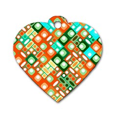 Pattern Factory 32c Dog Tag Heart (one Side) by MoreColorsinLife