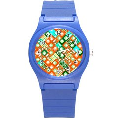 Pattern Factory 32c Round Plastic Sport Watch (s) by MoreColorsinLife