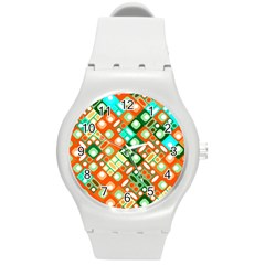 Pattern Factory 32c Round Plastic Sport Watch (m) by MoreColorsinLife