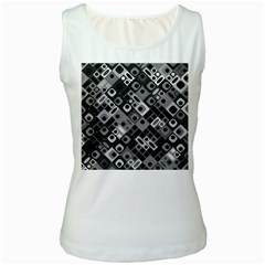 Pattern Factory 32f Women s White Tank Top by MoreColorsinLife