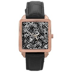 Pattern Factory 32f Rose Gold Leather Watch  by MoreColorsinLife