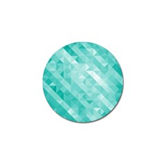 Bright Blue Turquoise Polygonal Background Golf Ball Marker (4 Pack) by TastefulDesigns
