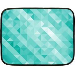 Bright Blue Turquoise Polygonal Background Fleece Blanket (mini)