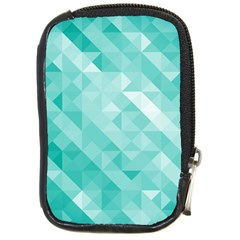 Bright Blue Turquoise Polygonal Background Compact Camera Cases