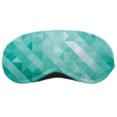 Bright Blue Turquoise Polygonal Background Sleeping Masks