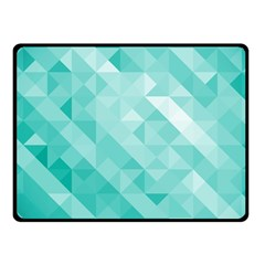 Bright Blue Turquoise Polygonal Background Fleece Blanket (small)