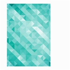 Bright Blue Turquoise Polygonal Background Small Garden Flag (two Sides) by TastefulDesigns