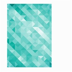 Bright Blue Turquoise Polygonal Background Large Garden Flag (two Sides)