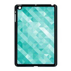 Bright Blue Turquoise Polygonal Background Apple Ipad Mini Case (black) by TastefulDesigns