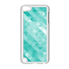 Bright Blue Turquoise Polygonal Background Apple Ipod Touch 5 Case (white)