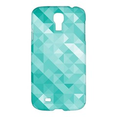 Bright Blue Turquoise Polygonal Background Samsung Galaxy S4 I9500/i9505 Hardshell Case
