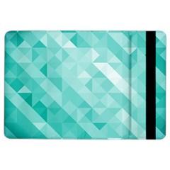 Bright Blue Turquoise Polygonal Background Ipad Air 2 Flip by TastefulDesigns