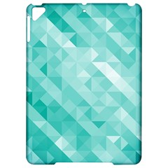 Bright Blue Turquoise Polygonal Background Apple Ipad Pro 9 7   Hardshell Case