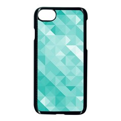 Bright Blue Turquoise Polygonal Background Apple Iphone 7 Seamless Case (black)
