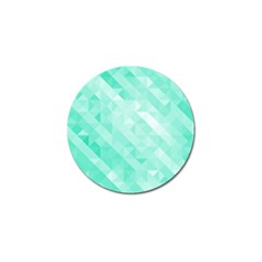 Bright Green Turquoise Geometric Background Golf Ball Marker by TastefulDesigns