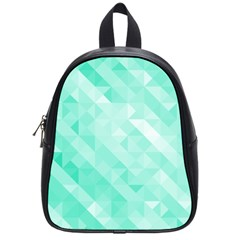 Bright Green Turquoise Geometric Background School Bags (small)  by TastefulDesigns