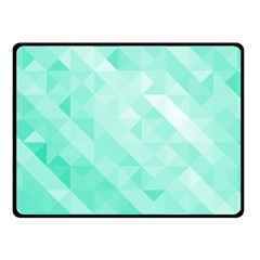 Bright Green Turquoise Geometric Background Fleece Blanket (small) by TastefulDesigns