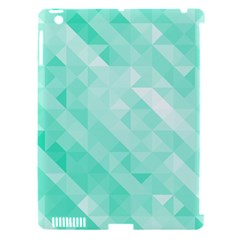 Bright Green Turquoise Geometric Background Apple Ipad 3/4 Hardshell Case (compatible With Smart Cover)