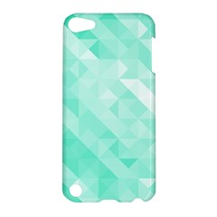 Bright Green Turquoise Geometric Background Apple Ipod Touch 5 Hardshell Case