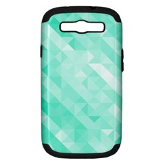 Bright Green Turquoise Geometric Background Samsung Galaxy S Iii Hardshell Case (pc+silicone)