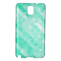Bright Green Turquoise Geometric Background Samsung Galaxy Note 3 N9005 Hardshell Case