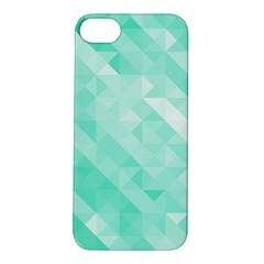 Bright Green Turquoise Geometric Background Apple Iphone 5s/ Se Hardshell Case