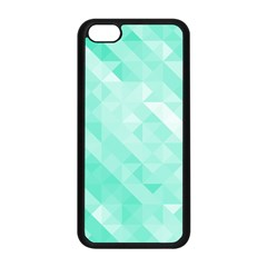 Bright Green Turquoise Geometric Background Apple Iphone 5c Seamless Case (black) by TastefulDesigns