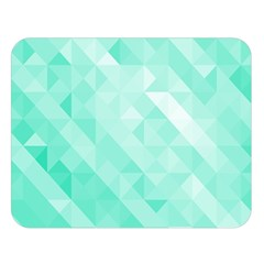 Bright Green Turquoise Geometric Background Double Sided Flano Blanket (large)  by TastefulDesigns