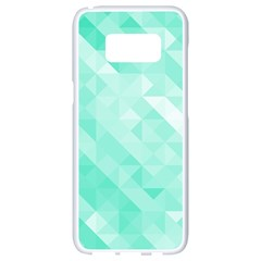 Bright Green Turquoise Geometric Background Samsung Galaxy S8 White Seamless Case