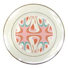 Algorithmic Abstract Shapes Porcelain Plates by linceazul