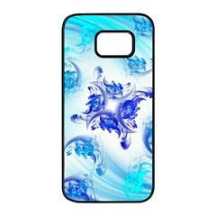 Summer Ice Flower Samsung Galaxy S7 Edge Black Seamless Case by designsbyamerianna