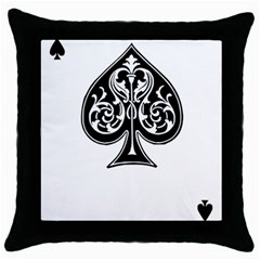 Acecard Throw Pillow Case (black) by prodesigner
